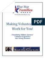 Making Volunteerism Work for You - Resume Builder for Military Spouses
