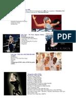 Lady Gaga-Pink Floyd DVDs