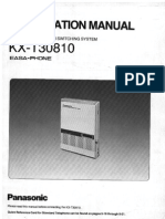 KX T30810 Installation