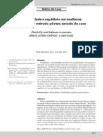 Flexibilidade e equilíbrio em mulheres idosas pelo método pilates estudo de caso - Thulio Moutinho