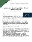 End Times & Armageddon - What Beliefs Create