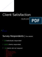 Greenough 2011 Client Satisfaction Survey Results