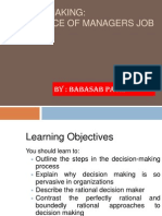 Decision Making Ppt Mba