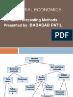 Demand Forecasting Methods Ppt MBA