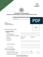 Form Beasiswa UGM