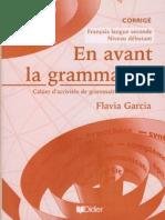 En Avant La Grammaire - Debutant - Corrige