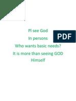 Pl see God