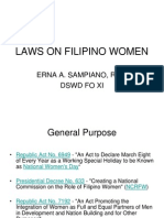 Laws on Filipino Women