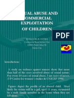 Sexual Abuse and Commercial Exploitation of Children