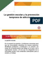 7. Gestión escolar y prevención de adicciones