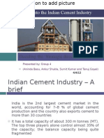A look into the Indian Cement Industry Presentation