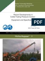 Recent Development in CT Pressure Control