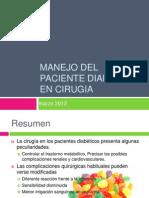 Manejo Del Paciente Diabetico en Cirugia2012
