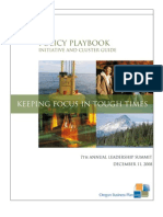 2008 Obp Policy Playbook, Initiative and Cluster Guide-final