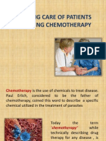 Nursing Care of Patients Receiving Chemotherapy