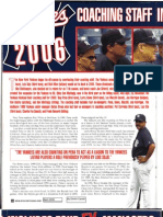 """Yankees Coaching Staff in 2006 Includes Four Ex-Managers"" by Dimitri Cavalli in New York Sportscene magazine (April 2006)"