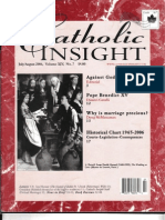 """""""Who Was Pope Benedict XV?"""" by Dimitri Cavalli in Catholic Insight magazine (July-August 2007)"""