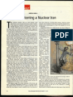 """Deterring a Nuclear Iran"" by Dimitri Cavalli in the English-language Jerusalem Report magazine (September 17, 2007) in Israel."