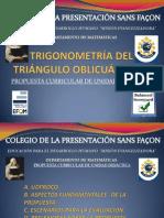 TRIGONOMETRÍA DEL TRIÁNGULO OBLICUÁNGULO