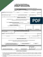 Maternity Notification Form2010 Fillin
