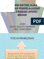 Power Point Analisis Materi ajar