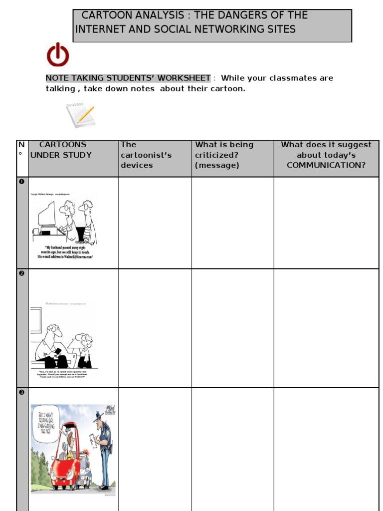 Worksheets Cartoon Analysis Worksheet cartoon analysis note taking worksheet