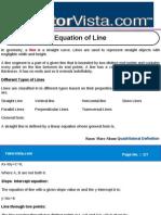 Equation of Line