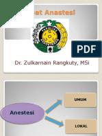K-18 - Obat Anastesi Farmakologi