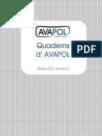 Estudio sobre los partidos políticos - Quadern Nº 2 AVAPOL