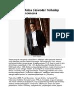 Pandangan Anies Baswedan Terhadap Mahasiswa Indonesia