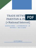 Trade Between Pakistan and India - Daneyal Mirza - L2F09BBAM0240