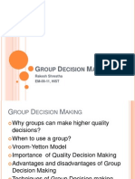 Presentation Group Decision Making