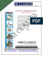 Vpm Classes - Solved Mock Paper _new Pattern_ Csir Ugc Net Chemistry 2012