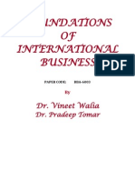 Foundations of International Business