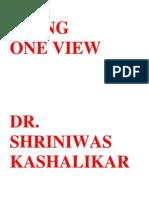 Aging One View Dr Shriniwas Kashalikar