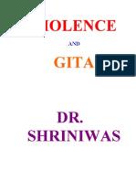 Violence & Gita Dr. Shriniwas Janardan Kashalikar