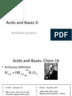 Acid-Base Equilibria 2