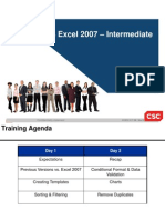 MS Excel Intermediate 2007