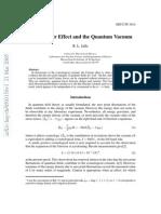 The Casimir Effect and the Quantum Vacuum