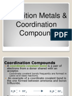 Transition Metals and Coordination Complexes