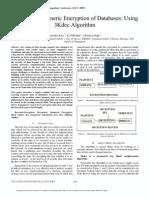 Numeric to Numeric Encryption of Databases Using 3kDES Algorithm