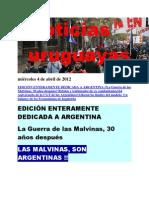 Noticias Uruguayas miércoles 4 de abril de 2012