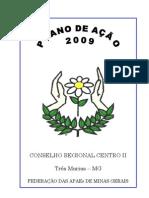 Capa, Indice e Introdução Plano de Acão CRC II 2009