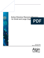 Ad Recovery Planning