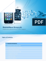 Mobile Wave Group Plc - Mobile Customer Engagement