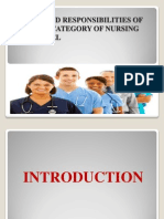 Duties and Responsibilities of Various Category of Nursing