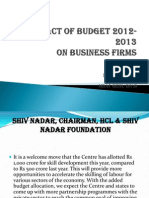 Impact of Budget Ppt