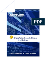 KWizCom Share Point Search String Highlighter User Guide v3.0