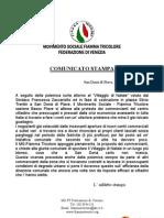 Comunicato Stampa MS-FT Federazione di Venezia - 10 Dicembre 2008
