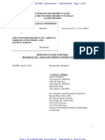 SEC Response to Motion to Dismiss - LPHI and Peden